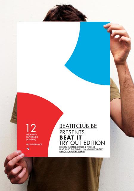 Affiche Beat It (try-out). Met dank aan 10000spoons.be