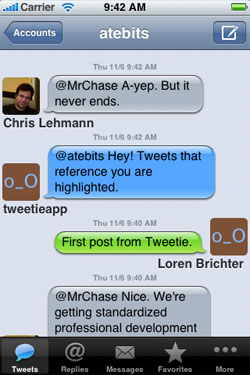 Tweetie voor de iPhone