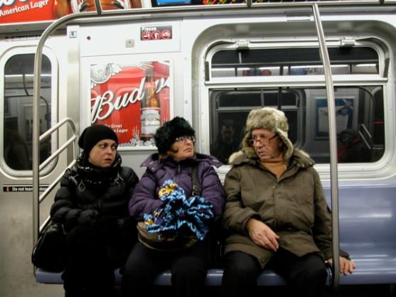In de metro.