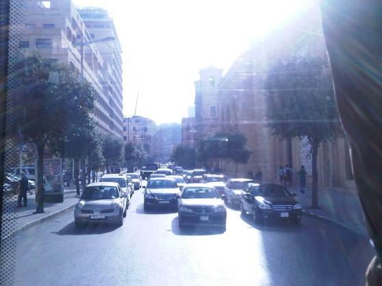 Verkeer in Beirut: waanzin!
