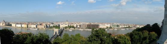 Panorama vanuit het kasteel van Boedapest.