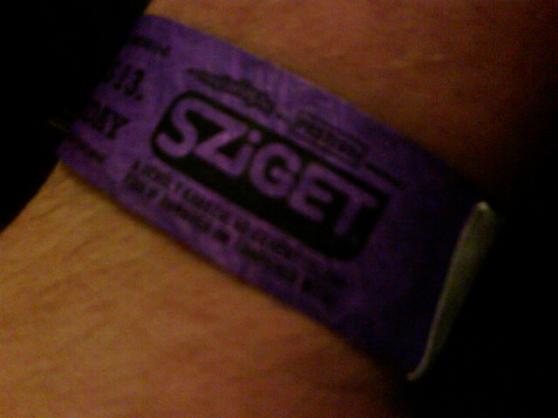 Bandje van het Sziget-festival.