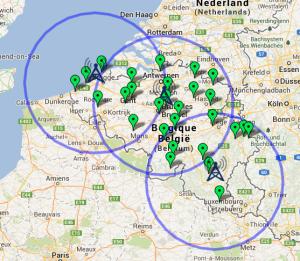 Synoptisch netwerk van weerstations van het KMI
