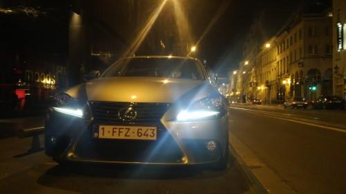 The Lexus IS 300h Xenon headlights