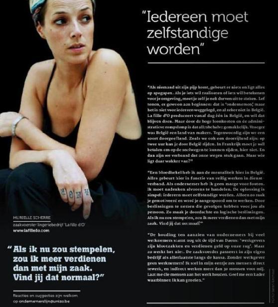 Opiniestuk van Murielle Scherre in ZO