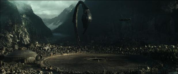 "Shot taken from the ""Alien: Covenant"" prologue ""The Crossing"""